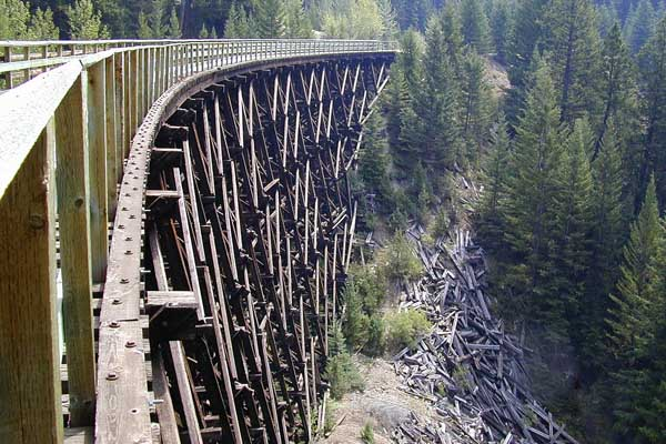 One of the trestles of Myra Canyon.